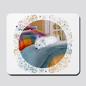 Westie Napping Mousepad