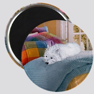 Westie Napping Magnet