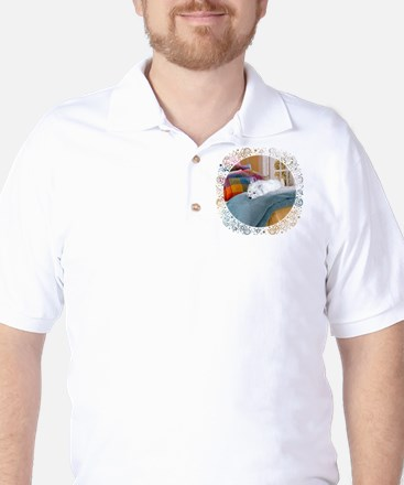 Westie Napping Golf Shirt