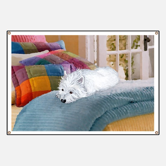 Westie Napping Banner