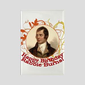 Happy Birthday Rabbie Burns Rectangle Magnet