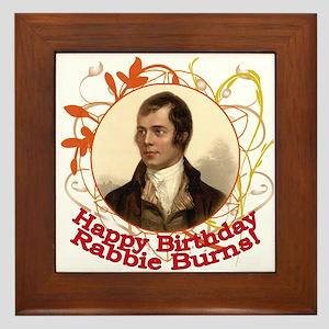 Happy Birthday Rabbie Burns Framed Tile