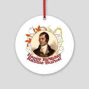 Happy Birthday Rabbie Burns Ornament (Round)
