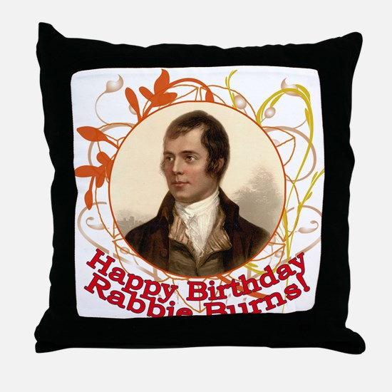 Happy Birthday Rabbie Burns Throw Pillow
