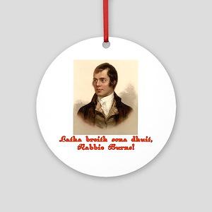 Happy Birthday in Scottish Gaelic Ornament (Round)