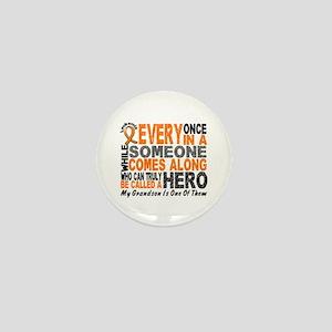 HERO Comes Along 1 Grandson LEUKEMIA Mini Button