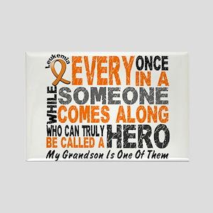 HERO Comes Along 1 Grandson LEUKEMIA Rectangle Mag