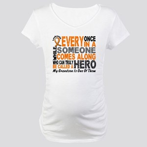 HERO Comes Along 1 Grandson LEUKEMIA Maternity T-S