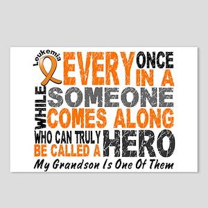 HERO Comes Along 1 Grandson LEUKEMIA Postcards (Pa