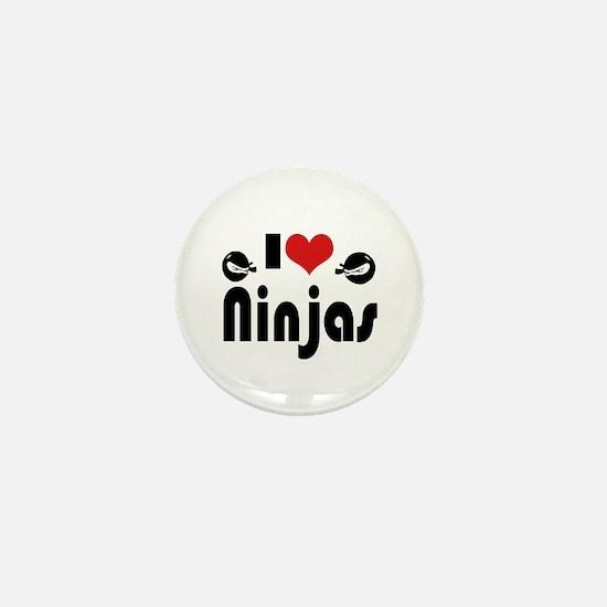 I heart Ninjas Mini Button