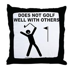 GOLF HUMOR Throw Pillow
