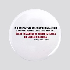 "Animal Abuse Statement 3.5"" Button"