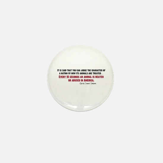 Animal Abuse Statement Mini Button