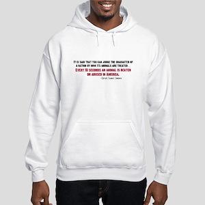 Animal Abuse Statement Hooded Sweatshirt