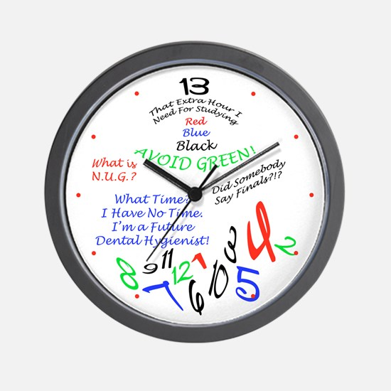 Dental Hygiene Program Wall Clock