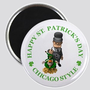 HAPPY ST PATRICK'S DAY - CHICAGO STYLE Magnet