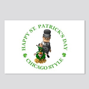 HAPPY ST PATRICK'S DAY - CHICAGO STYLE Postcards (