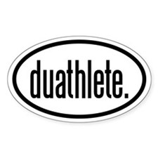 duathlete Oval Sticker