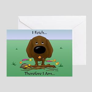 Chocolate Lab - I Fetch... Greeting Card