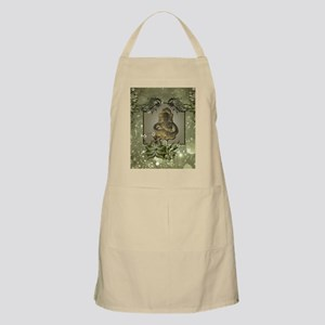 Indian elephant with flowers Light Apron