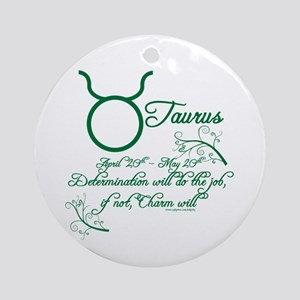 Taurus Ornament (Round)
