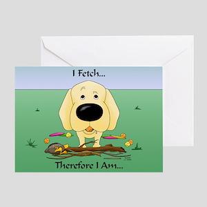Yellow Lab - I Fetch... Greeting Card