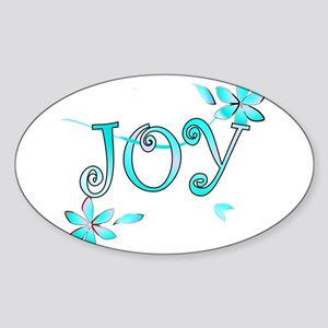 Joy Oval Sticker
