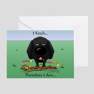 Black Lab - I Fetch... Greeting Card