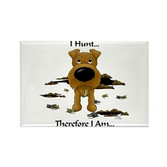 Irish Terrier - I Hunt... Rectangle Magnet (10 pac