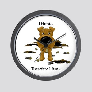 Irish Terrier - I Hunt... Wall Clock