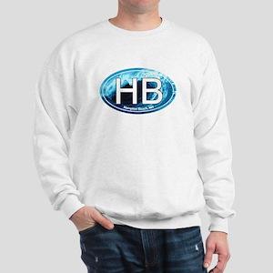 HB Hampton Beach, NH Wave Oval Sweatshirt