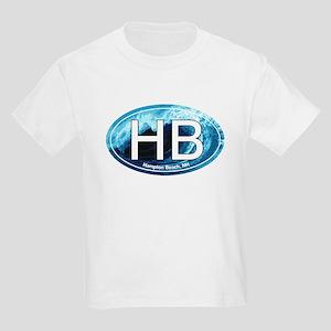 HB Hampton Beach, NH Wave Oval Kids Light T-Shirt
