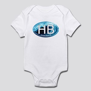 HB Hampton Beach, NH Wave Oval Infant Bodysuit