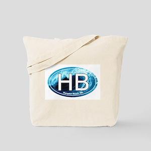 HB Hampton Beach, NH Wave Oval Tote Bag