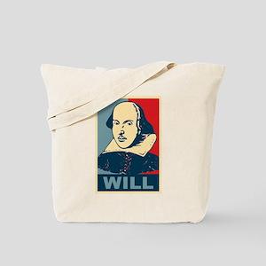 Pop Art William Shakespeare Tote Bag