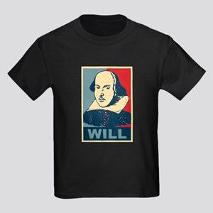 Pop Art William Shakespeare Kids Dark T-Shirt