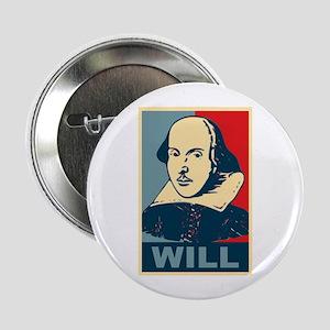 "Pop Art William Shakespeare 2.25"" Button"