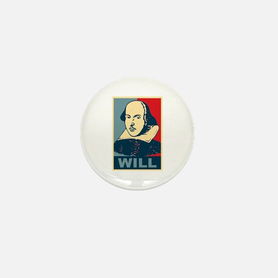 Pop Art William Shakespeare Mini Button
