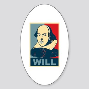 Pop Art William Shakespeare Sticker (Oval)