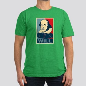 Pop Art William Shakespeare Men's Fitted T-Shirt (