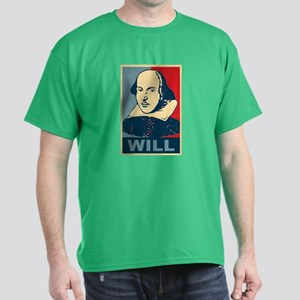 Pop Art William Shakespeare Dark T-Shirt