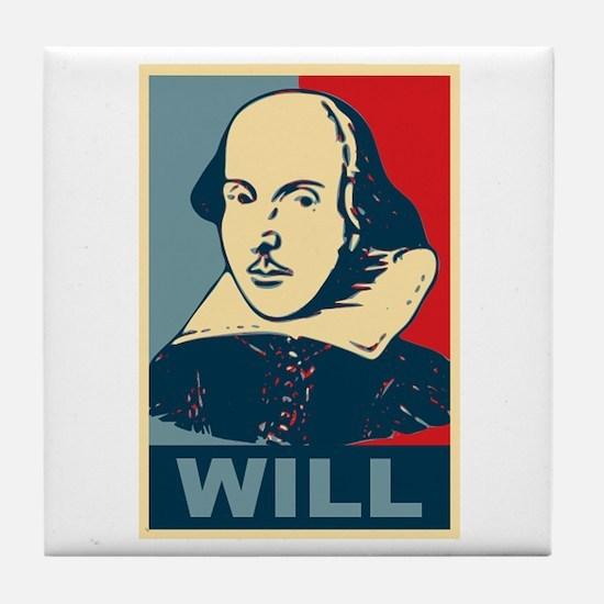 Pop Art William Shakespeare Tile Coaster