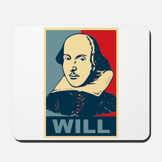 Pop Art William Shakespeare Mousepad
