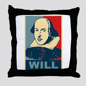 Pop Art William Shakespeare Throw Pillow