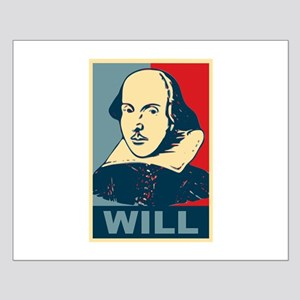 Pop Art William Shakespeare Small Poster