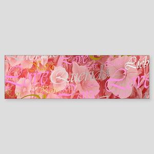 rose,cher,kara,liebe,love,pink,purp Bumper Sticker