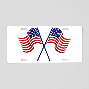 USA Racing Flags Aluminum License Plate