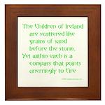 Children of Ireland Framed Tile