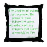 Children of Ireland Throw Pillow