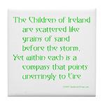 Children of Ireland Tile Coaster